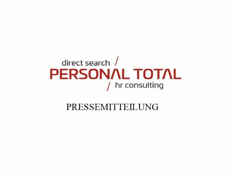 """PERSONAL TOTAL wieder """"Beste Personalberater 2020"""""""